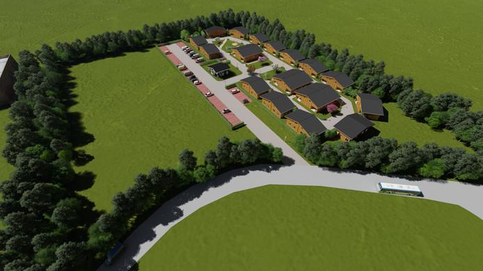 Het migrantenpark zoals dat in Cuijk eruit zou moeten gaan zien.