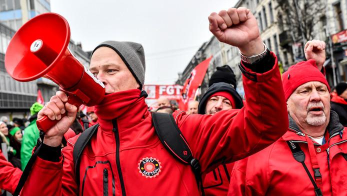 Manifestation syndicale en décembre dernier.