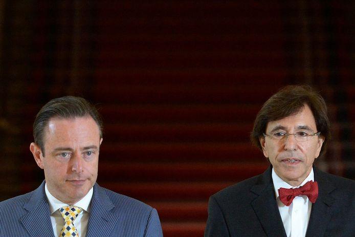 Bart De Wever et Elio Di Rupo en 2014.