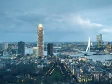 Bouw hoogste toren van Nederland, de Rotterdamse Zalmhaventoren, van start