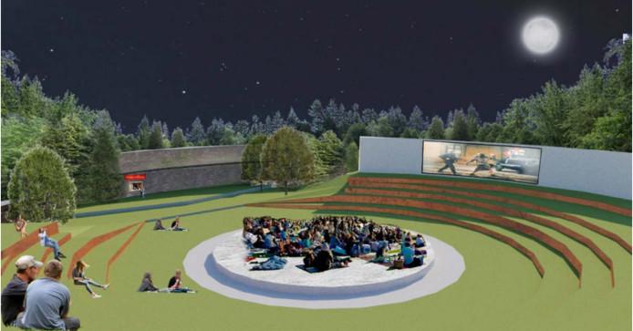 Een van de ideeën: een openluchttheater als tegenhanger van de Muur van Mussert.