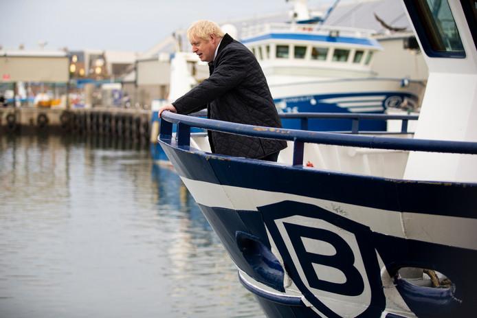 Premier Johnson was gisteren een dagje in Schotland.
