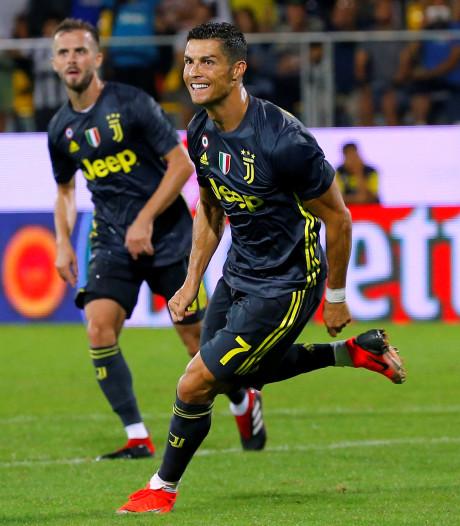 Ronaldo redt Juventus op bezoek bij Frosinone