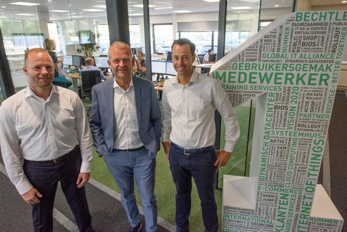 Maarten Friesema, Jean-Paul Bierens en Willem Wennekes, (v.l.n.r.) van Bechtle Nederland