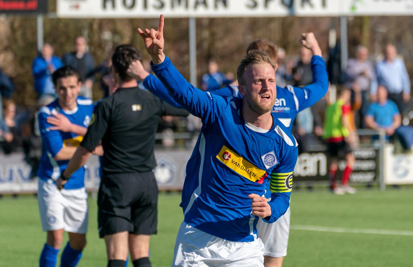 Rutger Worm is bij RKHVV dit seizoen aanvoerder, net als in zijn drie seizoenen bij DFS in Opheusden.