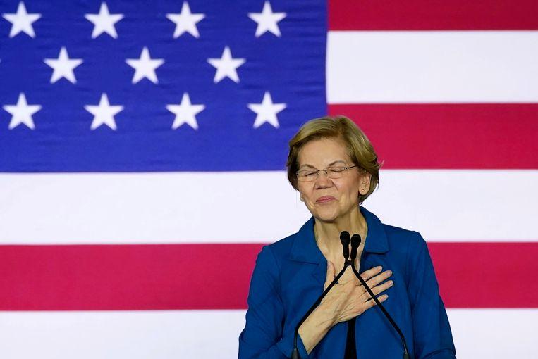 Elizabeth Warren maakte vandaag bekend haar presidentscampagne te staken.   Beeld Reuters