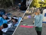 Betogers slaan tentenkamp op bij Tweede Kamer voor Lesbos