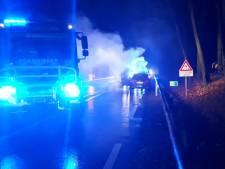 File op N35 tussen Nijverdal en Haarle door autobrand