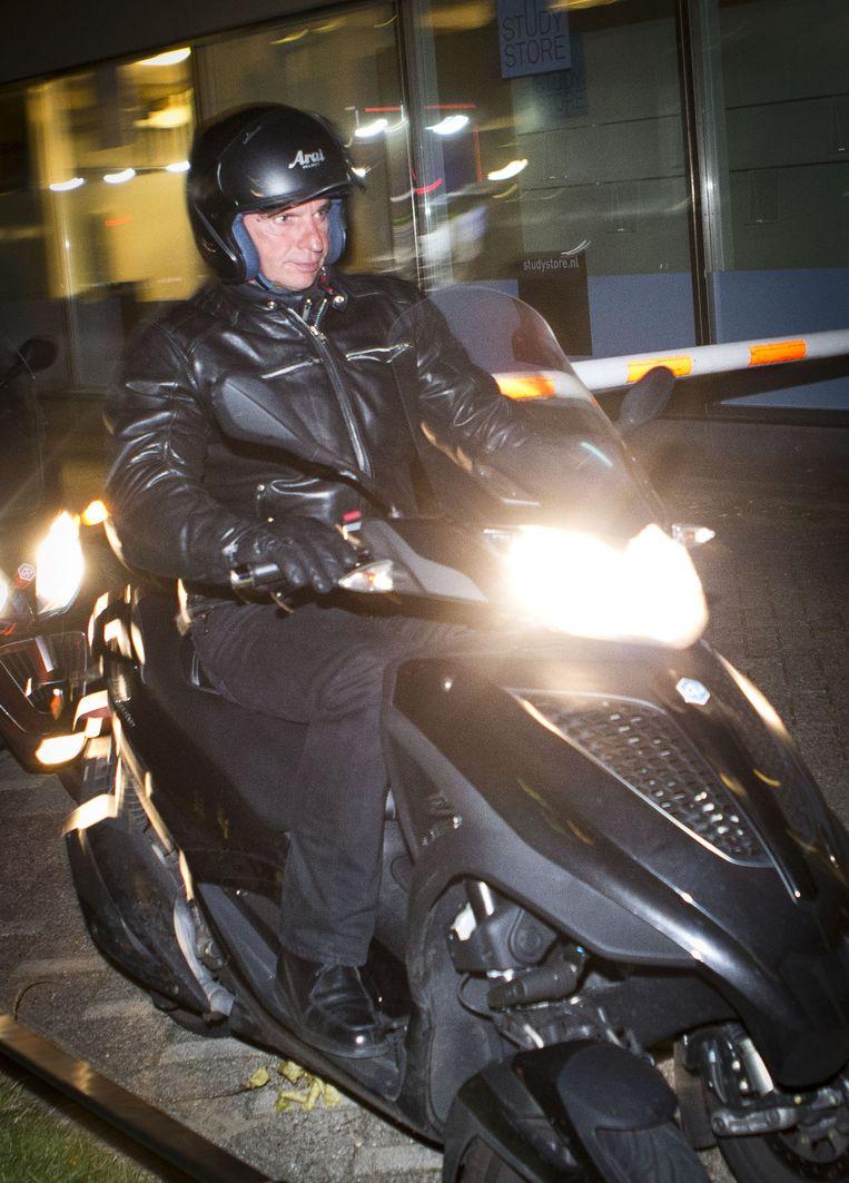 Willem Holleeder komt aan op de Utrechtse Uithof. Beeld anp
