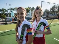 Aanvoerders van jeugd-hockeyteams in Nuenen spelen voortaan met een regenboogband