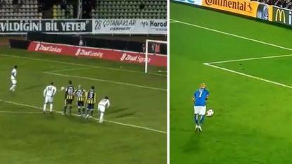 Aanloop zoals befaamde penaltymisser Zaza, maar het vervolg van deze strafschop is nog een stuk erger