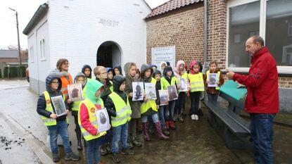Leerlingen De Duizendpoot maken kennis met hoe het er in hun dorp aan toeging tijdens WO I