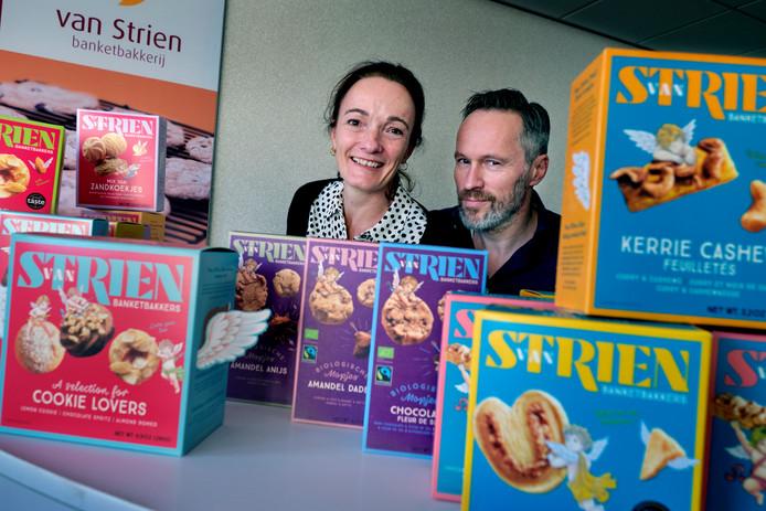 De koekjes van Els en Jaques van Strien liggen in meer dan duizend Nederlandse en Belgische winkels.