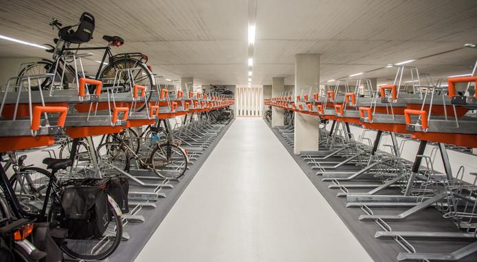 Een ondergrondse fietsenstaling, foto ter illustratie