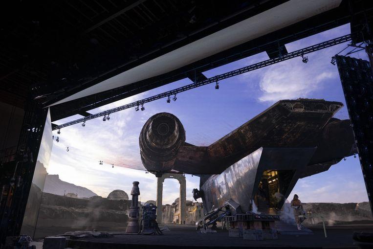 Op de set van The Mandalorian. Beeld Lucasfilm