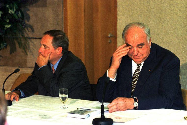 Schäuble met bondskanselierKohl, 1998. Beeld ANP