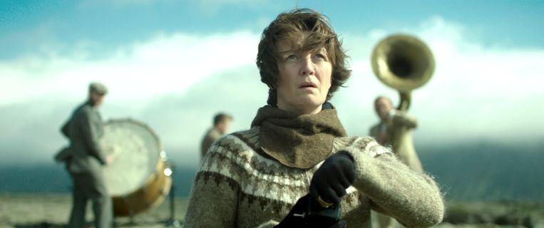 Halldóra Geirharðsdóttir in Woman at War (Benedikt Erlingsson). Beeld