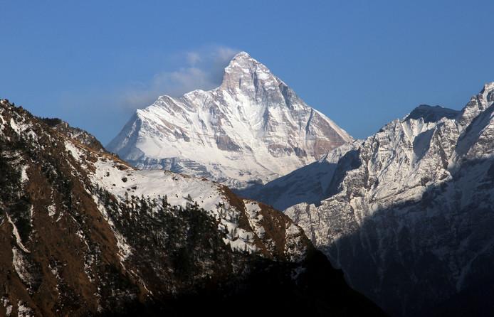 La montagne Nanda Devi, au nord de l'Himalaya.