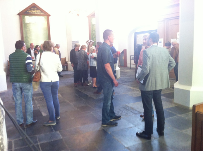 Inwoners konden in de Grote Kerk intekenen op het uitwerken van ideeën voor de vesting Heusden.