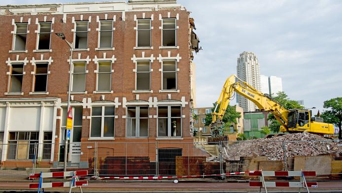 Sloop van een woonblok in Rotterdam-Zuid