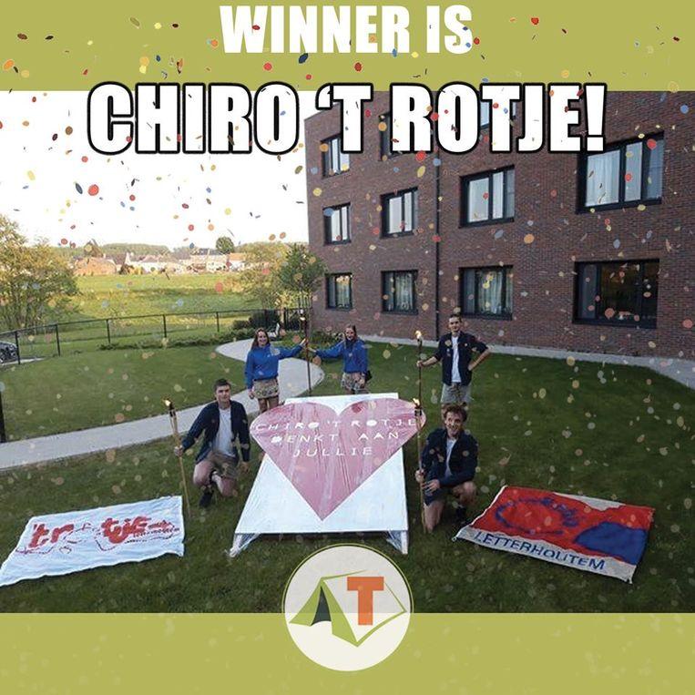 De foto van chiro 't Rotje haalde de meeste likes.