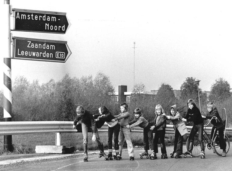 De autoloze zondag in 1973 Beeld ANP