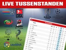 LIVE   Alle tussenstanden uit La Liga, Premier League en Serie A