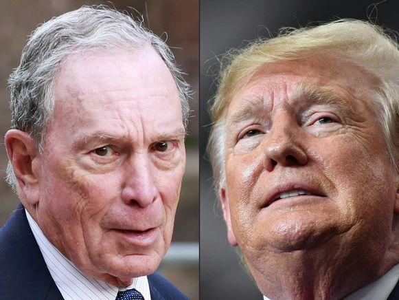 Michael Bloomberg en Donald Trump. Trumps campagneteam beschuldigt Bloomberg News, dat eigendom is van politieke concurrent Michael Bloomberg, van partijdigheid.