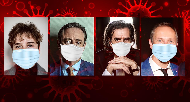 Anuna De Wever, Bart De Wever, Dirk Wachter en Helmut Lotti Beeld Humo
