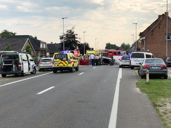Bij het ongeval werden verschillende beelden op sociale media geplaatst.