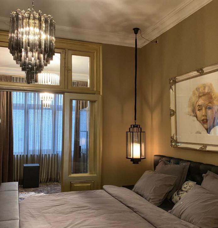 De slaapkamer met Gordons lievelingsicoon Marilyn Monroe