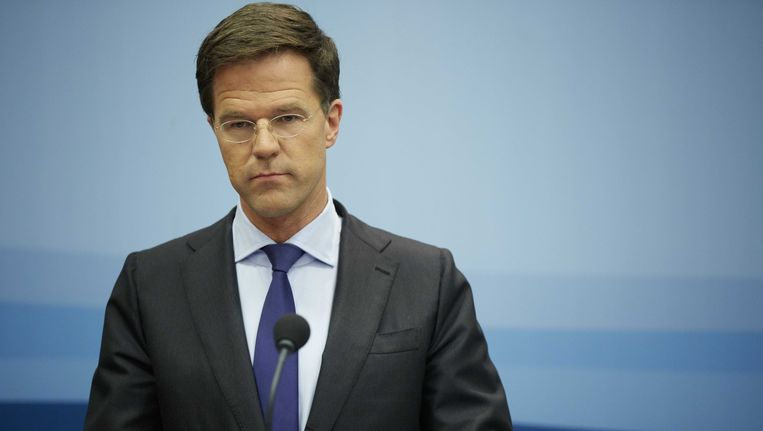 Premier Mark Rutte. Beeld null