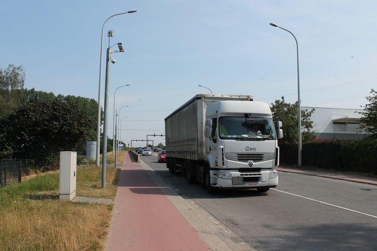 Een voorbeeld van een vrachtwagensluis (de foto werd niet in Vijve genomen).