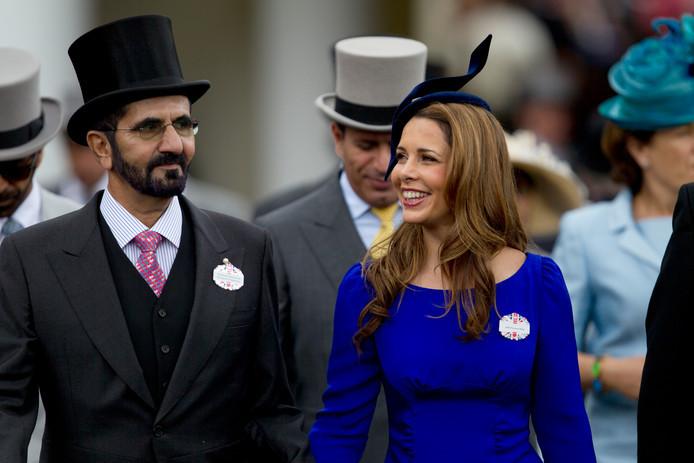 Haya en echtgenoot Mohammed bin Rashid Al Maktoumin in 2012.