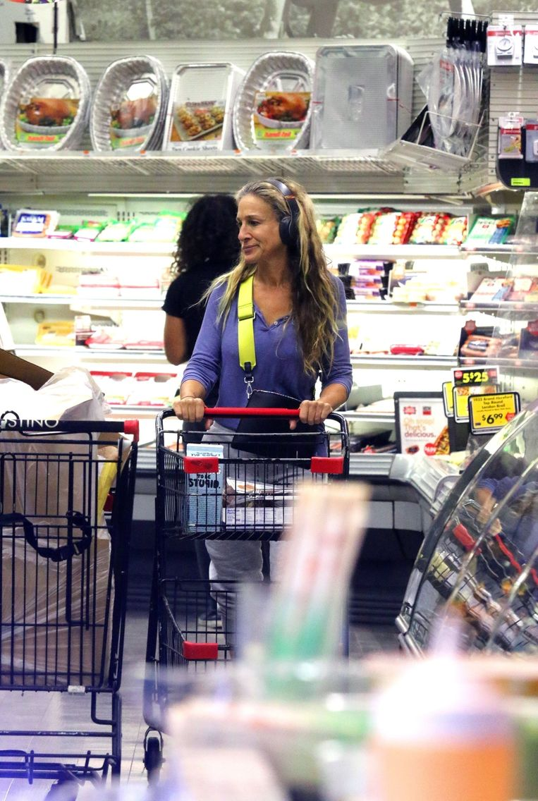 Sarah Jessica Parker houdt wel van wat muziek tijdens het shoppen.