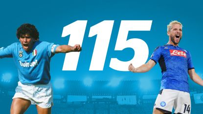 Dries Mertens scoort zijn 115de voor Napoli en evenaart doelpuntenaantal van Diego Maradona