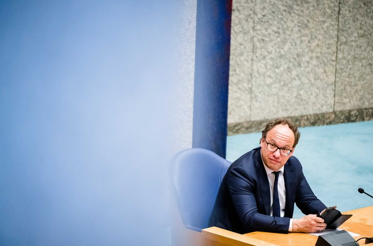 Minister Wouter Koolmees (Sociale Zaken) tijdens het wekelijks vragenuur in de Tweede Kamer Beeld ANP