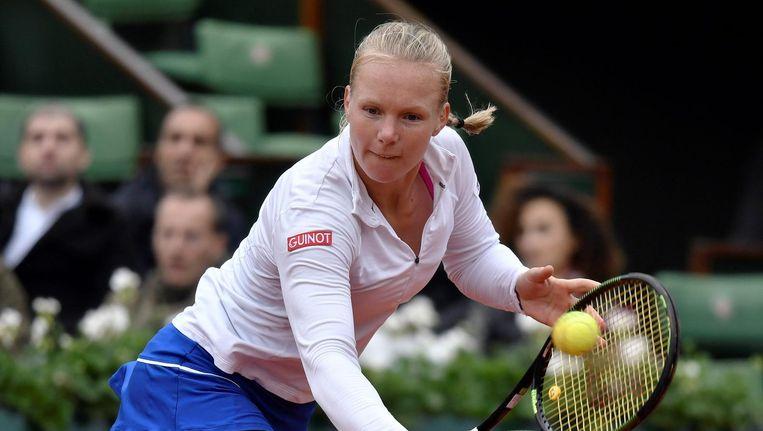 Kiki Bertens tijdens de halve finale van Roland Garros Beeld anp