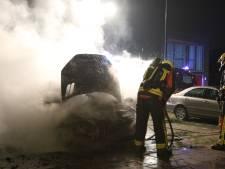 Auto vliegt in brand aan De Royschans