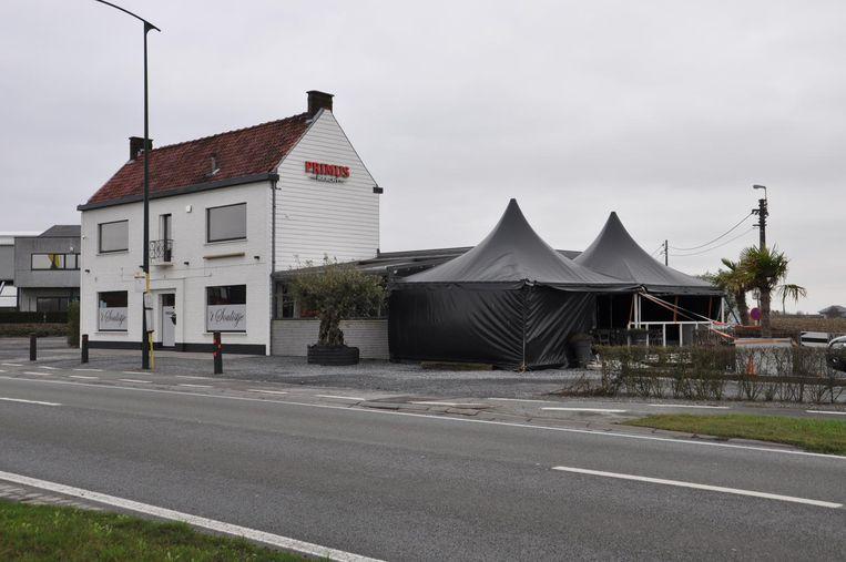Het ongeval gebeurde aan café 't Soulistje in Aalter.