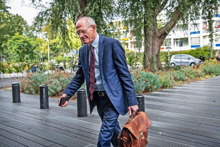 Centric-topman Gerard Sanderink verschijnt bij de rechtbank, bij een van de vele zaken waarin Centric verwikkeld is.  Beeld Guus Dubbelman / de Volkskrant