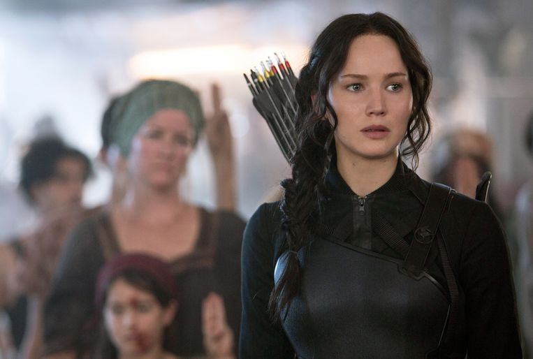 Jennifer Lawrence in The Hunger Games Beeld AP