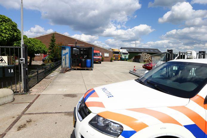 Het drugslab dat op 6 juni van dit jaar in Herwijnen werd ontdekt.