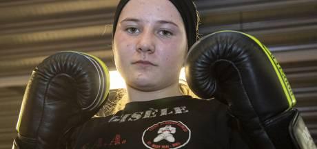 Gisele (12) uit Hengelo zet alles aan de kant voor het kickboksen