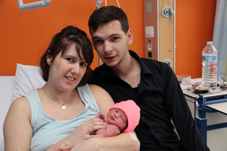 Roy Vervecken en Bianca Jacobs met dochter Faey.