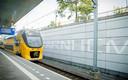 Een trein op station Arnhem.