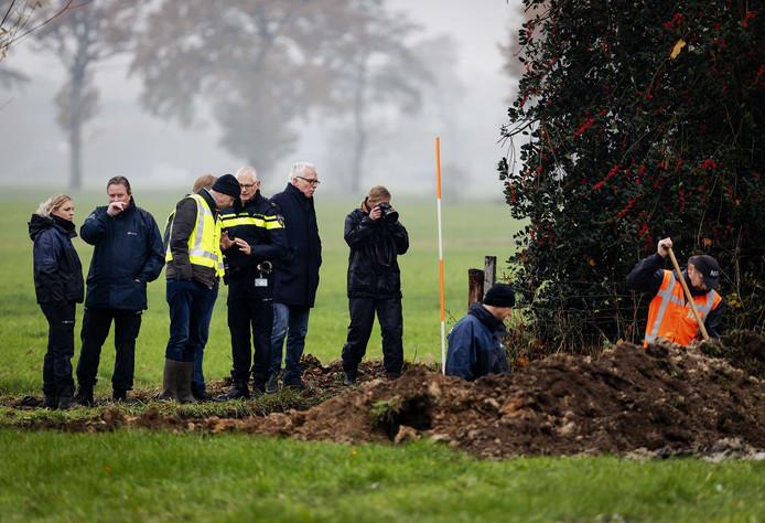 Eerdere graafwerkzaamheden op een perceel in het Drentse Koekange, in het onderzoek naar de in 1992 verdwenen Willeke Dost (15).