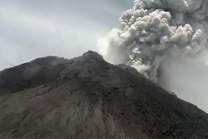 Image de ce 27 mars: les cendres atteignent cinq kilomètres de hauteur