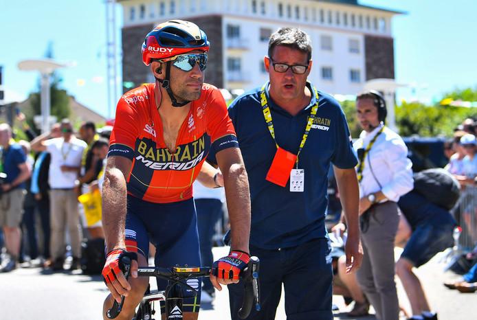 Vincenzo Nibali: door veel deelnemers aan de Lezerstour verfoeid, maar Truus Butterhof uit Ootmarsum is blij met hem. De Italiaan is één van de redenen dat zij de dagwinst grijpt.