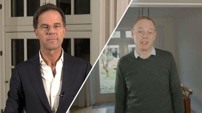 Minister-president Mark Rutte en burgemeester van Deventer Ron König bedanken alle vrijwilligers van Deventer.